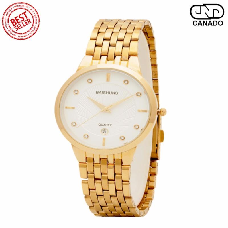 Nơi bán CANADO Đồng hồ nam mặt chạm rồng BAISHUNS C0357 (Vàng)