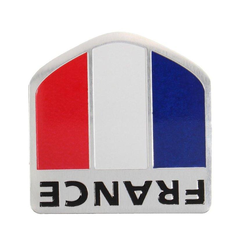 Car Motorbike Aluminum 3D France French Flag Shield Emblem Badge Decals Sticker - intl