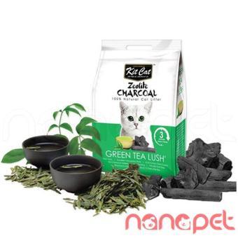 Cát Mèo KitCat Zeolite Charcoal Trà Xanh Túi 4Kg