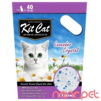 Cát Thủy Tinh KitCat Hoa Lavander Cho Mèo Túi 5L