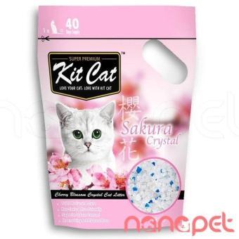 Cát Thủy Tinh KitCat Hương Sakura Cho Mèo Túi 5L