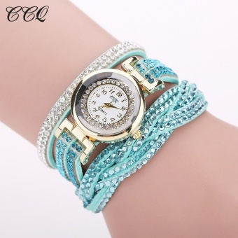 CCQ Brand Fashion Luxury Rhinestone Bracelet Women WatchLadiesQuartz Watch Casual Women Wristwatch 1739(Mint Green� - intl