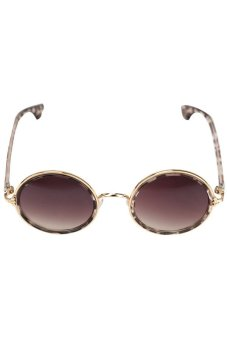 Chic Retro Round Circular Sunglasses Decor for Women Girls LeopardBrown (Intl)