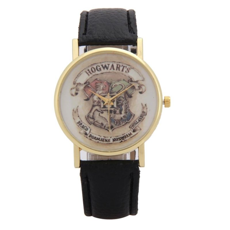 Children Leather Wristwatch Casual Luxury Quartz Watch (Black) - intl bán chạy