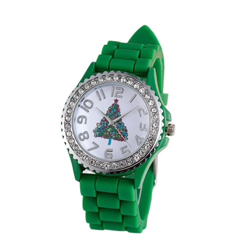Christmas Tree Silica Gel Quartz Analog Watch as Christmas Gift - intl bán chạy