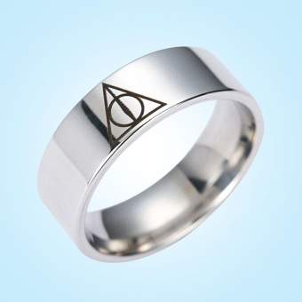 Classic Harry Potter Triangle Titanium Steel Women's Ring JewelryGifts - intl