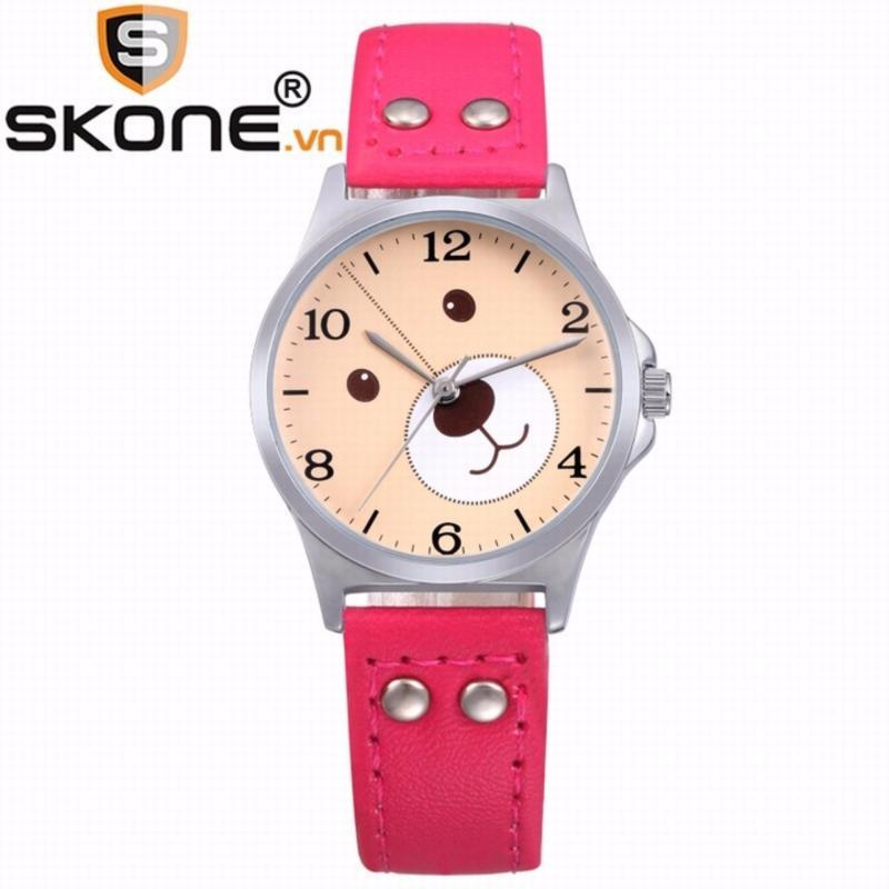 Combo 02 đồng hồ bé gái SKONE - dây da 3170-2 bán chạy