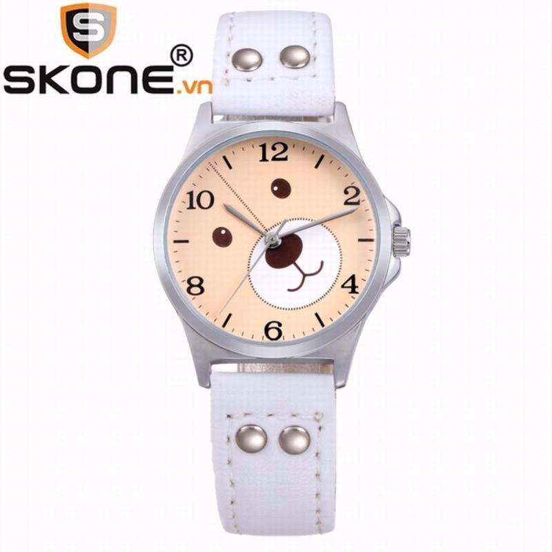 Combo 02 đồng hồ bé gái SKONE - dây da 3170-4 bán chạy