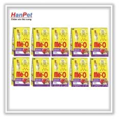 Chỗ bán Combo 10 gói thức ăn dạng hạt mèo lớn ME-O 350gr (vị Hải sản) hanpet 201g
