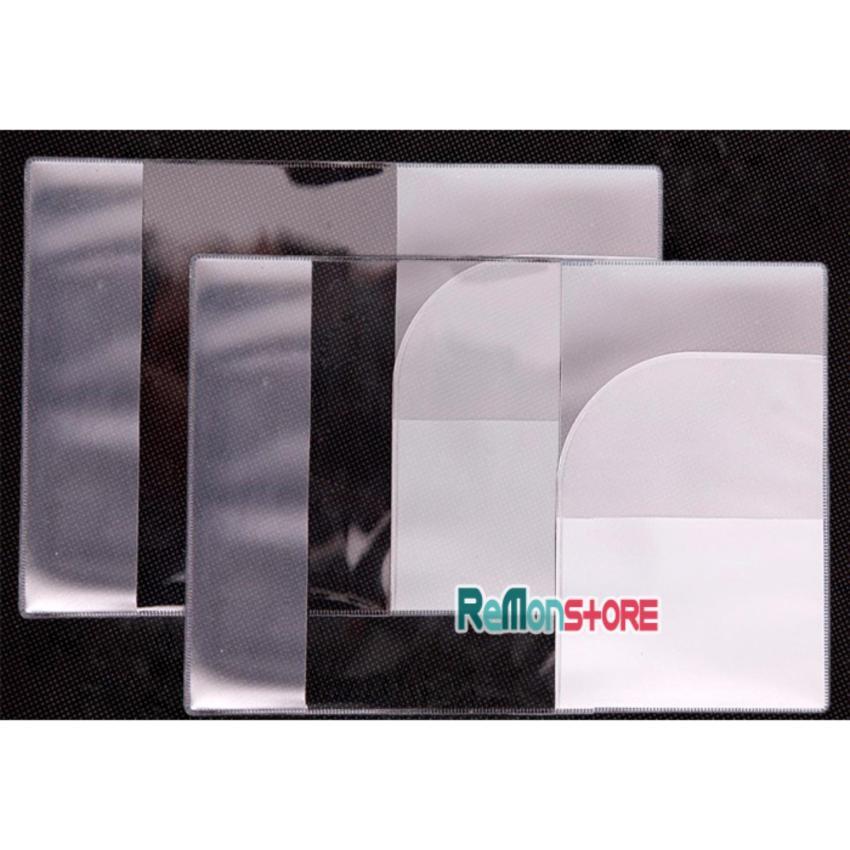 Combo 2 Hộp bàn chải du lịch nhựa lúa mì và 2 Bao Passport 3 ngăn nhựa dẻo trong dày...