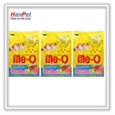 Giá KM COMBO 3 gói thức ăn dạng hạt mèo con ME-O kitten 1,1kg vị cá biển (hanpet 204d)