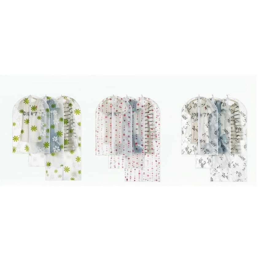Combo 3 Túi Bảo Vệ Quần Áo RainStore - Trắng hoa xanh - Size Trung 60*110