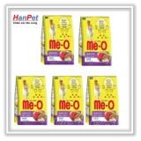 COMBO 5 gói thức ăn dạng hạt  cho mèo lớn ME-O 350gr (vị Hải sản) hanpet 201e