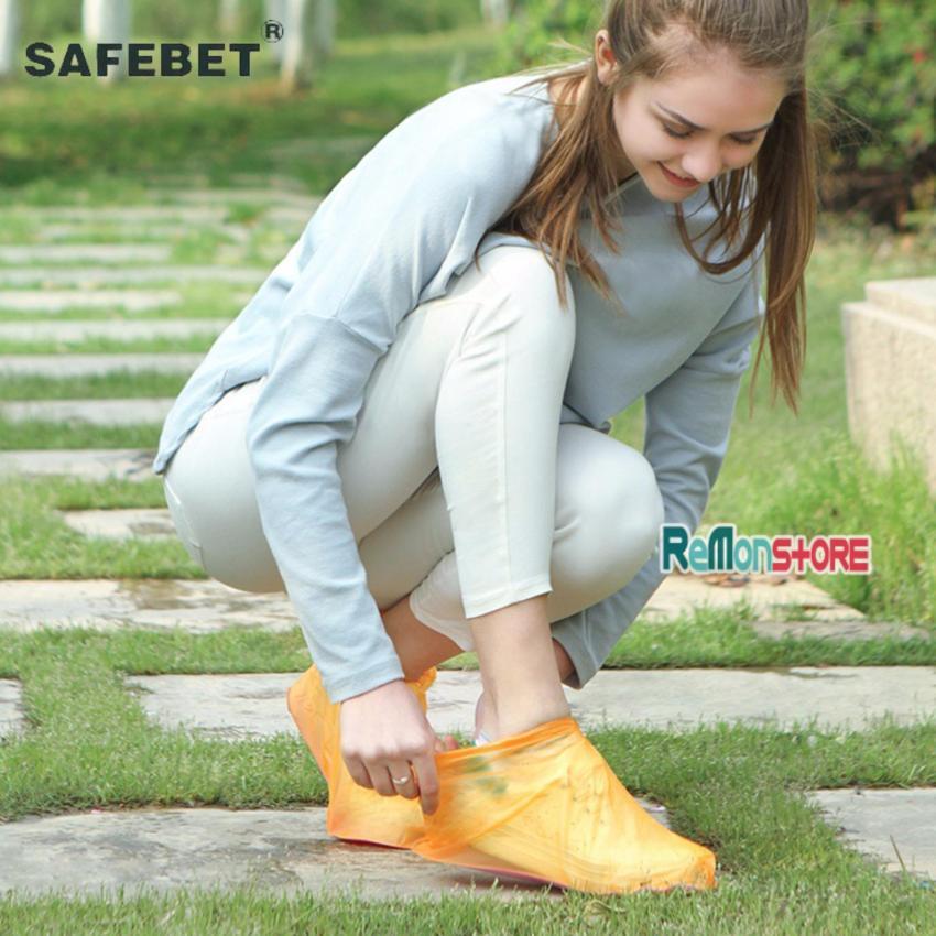 Combo Couple 2 đôi bao bọc giày chống nước đi mưa SAFEBET cổ thấp