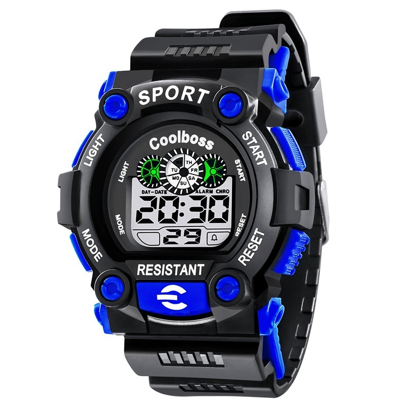 Coolboss Children s Watches Luminous Boys and Girls Waterproof Multi - Function Electronic Watch - intl bán chạy