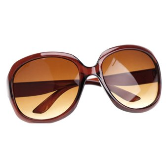 Cyber Retro Oversized Women Sunglasses (Brown)