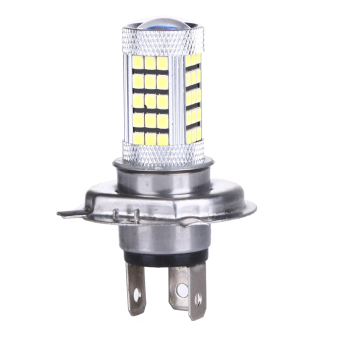 DC 12V H4 2835 63 LED 6000K Car Projector Fog Driving Light (White)- intl