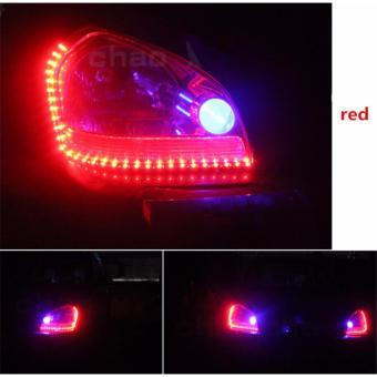 Đèn LED mí mắt xe hơi màu ĐỎ cực chất