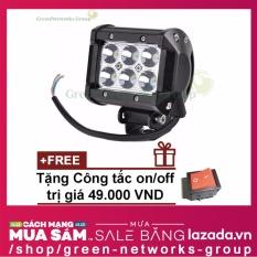 Đèn pha led xe máy giá rẻ C6 + Tặng công tắc