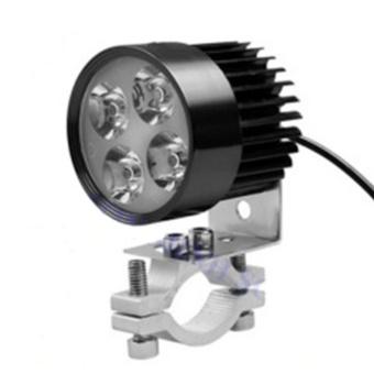 Đèn pha trợ sáng 4 LED siêu sáng dành cho xe mô tô(Đen)