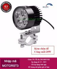 Đèn pha trợ sáng 4 LED siêu sáng(Đen)-Hàng chính hãng
