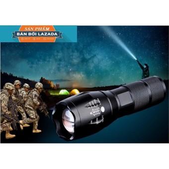 đèn sieu sang, Đèn pin siêu sáng X800 XTML-06 Probền đẹp, SÁNG MẠNH, CHIẾU XA, BẢO HÀNH UY TÍN TẶNG KÈM 1 PIN 7000Ma+1 sạc+1 đốc để pin AAA+1 hộp đựng cao cấp