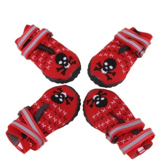 Dog Paws Protector Waterproof Dog Shoes Weave DogBootsReflectiveVelcro(Red)(8#) - intl - 8598328 , OE680OTAA7W6KAVNAMZ-14998694 , 224_OE680OTAA7W6KAVNAMZ-14998694 , 652680 , Dog-Paws-Protector-Waterproof-Dog-Shoes-Weave-DogBootsReflectiveVelcroRed8-intl-224_OE680OTAA7W6KAVNAMZ-14998694 , lazada.vn , Dog Paws Protector Waterproof Dog Shoe