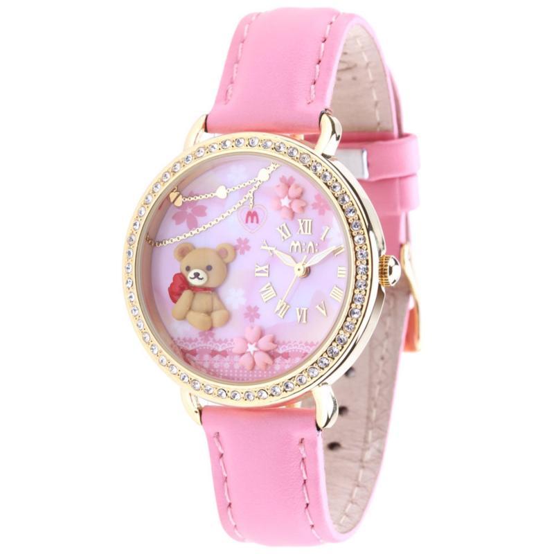 Đồng hồ 3D MINI Hàn Quốc dây da Teddy MI033 bán chạy