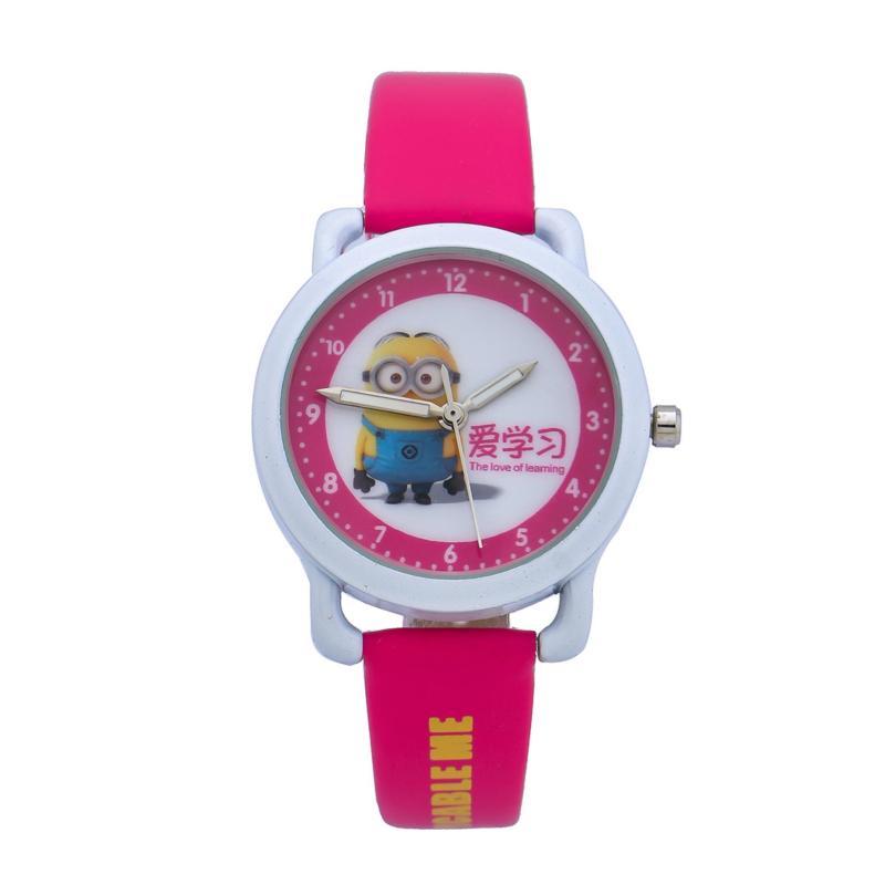 Đồng Hồ Bé Dây Nhựa MINIon Kid Watch GE114 (Hồng) bán chạy