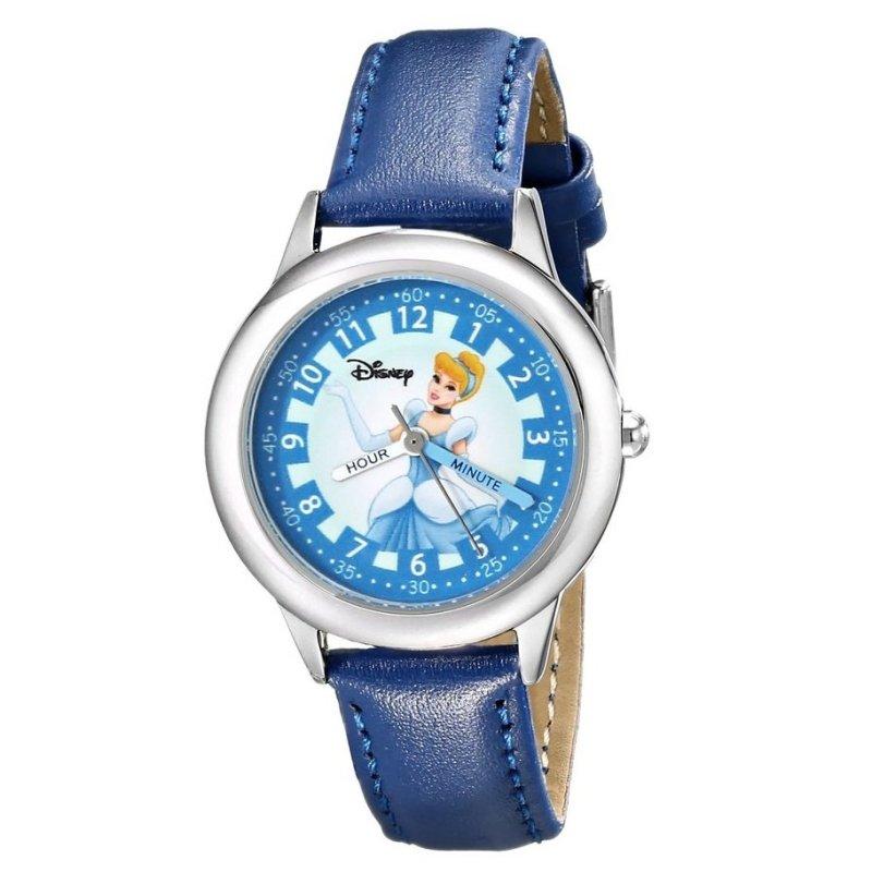 Đồng hồ bé gái dây da Công Chúa Lọ Lem Disney Kids' Cinderella Watch with Blue Leather Band (Xanh) bán chạy