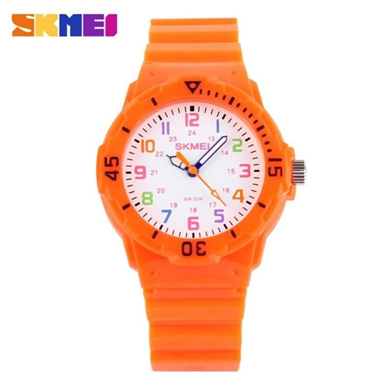 Đồng hồ Bé Skmei dây nhựa cao cấp SK110 (Cam) bán chạy
