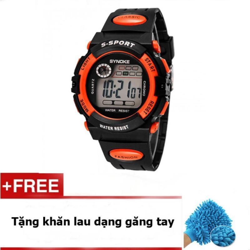Nơi bán Đồng hồ bé trai dây cao su  Synoke  99269 (Cam) + quà tặng