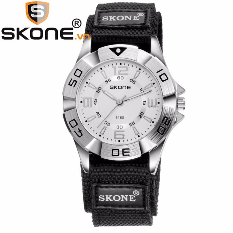 Đồng hồ bé trai SKONE máy Quartz Nhật, dây dù 6160-boy (Đen) bán chạy