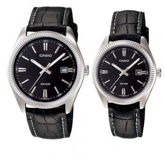 Đồng hồ cặp dây da Casio MTP-1302L-1aVDF (Đen)