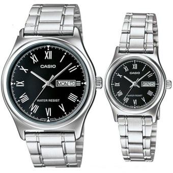 Đồng hồ cặp dây thép không rỉ Casio MTP-V006D-1BUDF-LTP-V006D-1BUDF