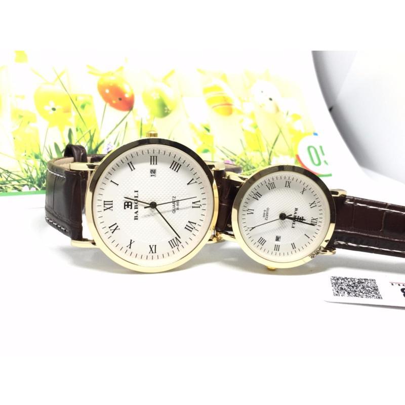 Nơi bán Đồng hồ cặp tình nhân Baboli B001 (dây nâu)