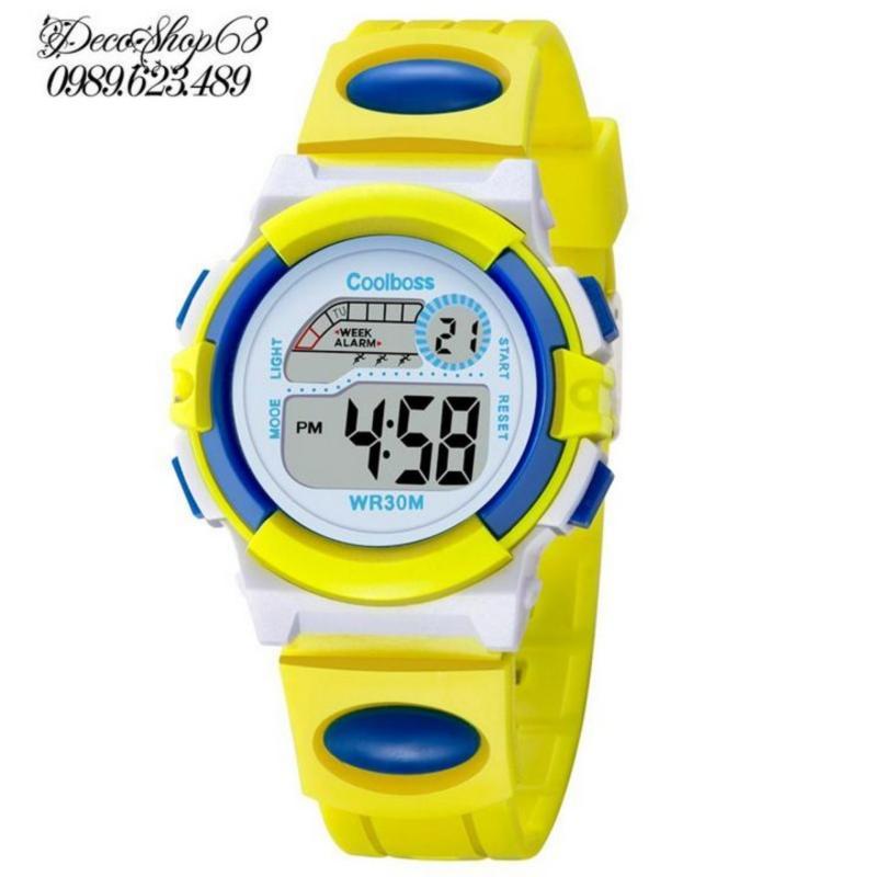Đồng hồ cho bé Decoshop68 W03-VX màu vàng xanh giá tốt bán chạy