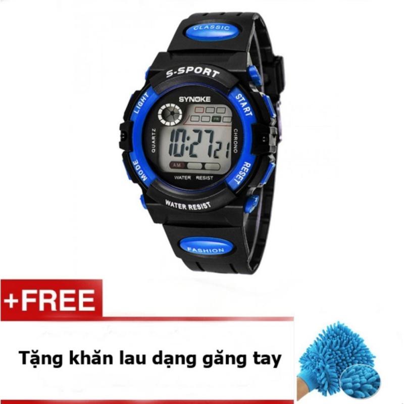 Đồng hồ cho bé synoke 99268 (Xanh) + quà tặng bán chạy