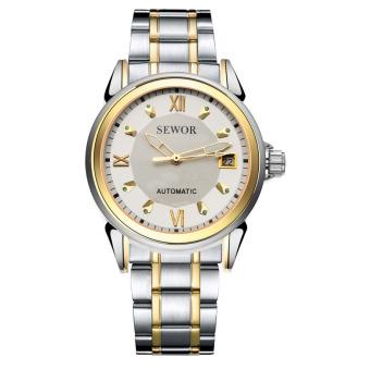 Đồng hồ cơ nam dây thép dermi SEWOR SEDM8668