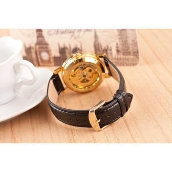 Cửa hàng bán Đồng hồ cơ nam lộ máy dây da WINER W66 (Đen)