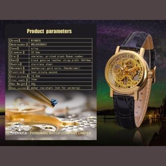 Chỗ nào bán Đồng hồ cơ nam lộ máy dây da WINER WR535 (Dây Đen)