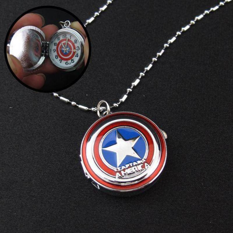 Nơi bán Đồng hồ dây chuyền Siêu Anh Hùng Captain America - 001