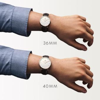 Đồng hồ dây da Daniel Wellington Classic Bristol 40mm (Nâu sẫm) - 4