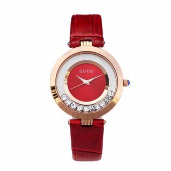 Đồng hồ dây da Guou G2017 màu đỏ + Tặng kèm vòng tay thạch anh - 8170178 , GU176OTAA3JENDVNAMZ-6255460 , 224_GU176OTAA3JENDVNAMZ-6255460 , 332500 , Dong-ho-day-da-Guou-G2017-mau-do-Tang-kem-vong-tay-thach-anh-224_GU176OTAA3JENDVNAMZ-6255460 , lazada.vn , Đồng hồ dây da Guou G2017 màu đỏ + Tặng kèm vòng tay thạch a