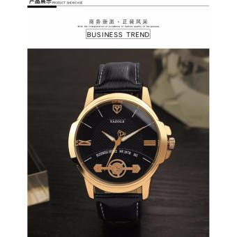 Đồng hồ dây da nam Yazole 365 tinh tế