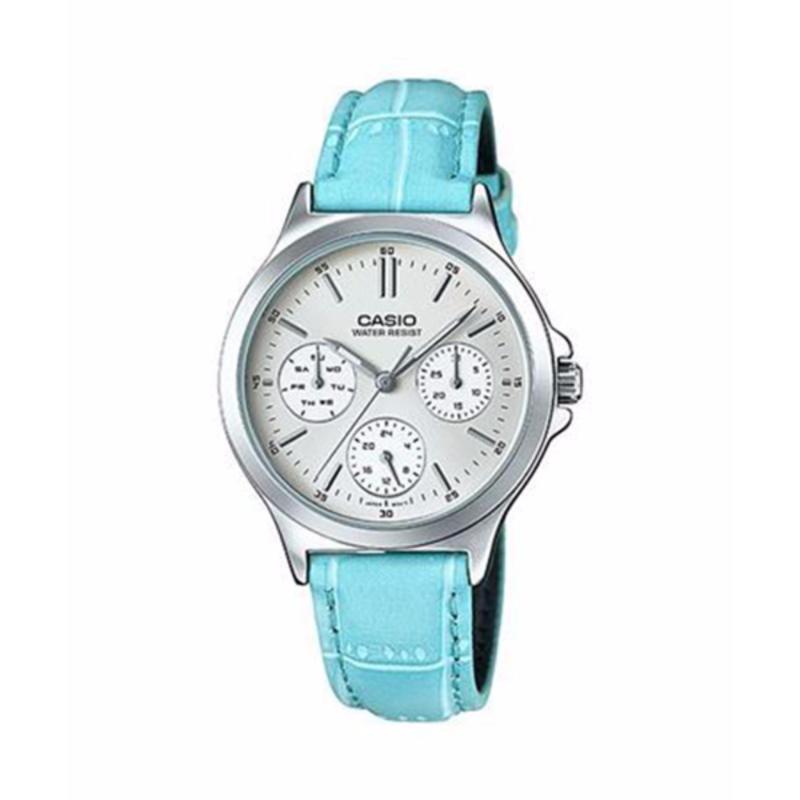 Nơi bán Đồng hồ dây da nữ hiệu Casio LTP-V300L-2AUDF (Xanh)