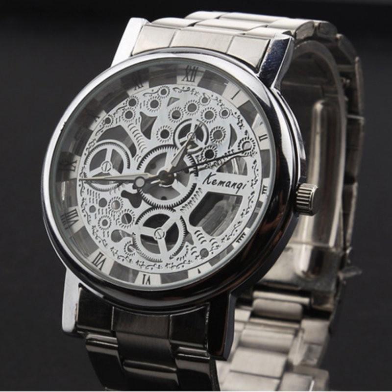 Nơi bán Đồng hồ dây kim loại giả cơ Keman BQ190-TRANG (Trắng)