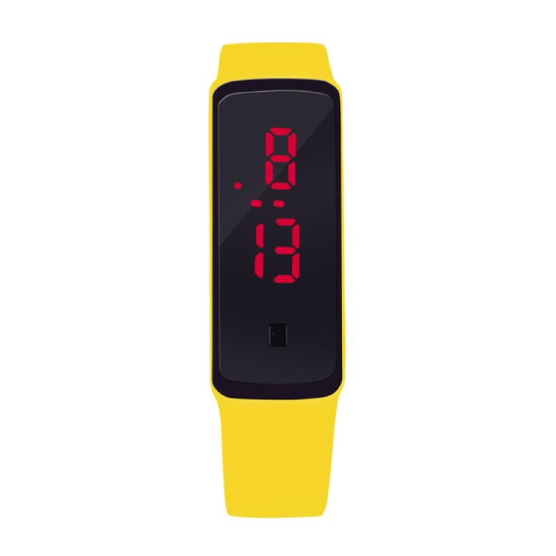Nơi bán Đồng hồ đèn LED Unisex dây silicone GEX (Vàng)