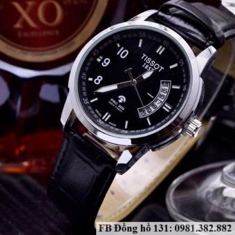 Đồng hồ đeo tay nam dây da Tisot lịch quạt
