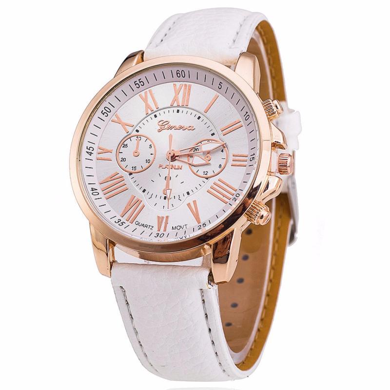 Nơi bán Đồng hồ đeo tay nữ dây giả da JS LM036_WH4013 (Trắng)